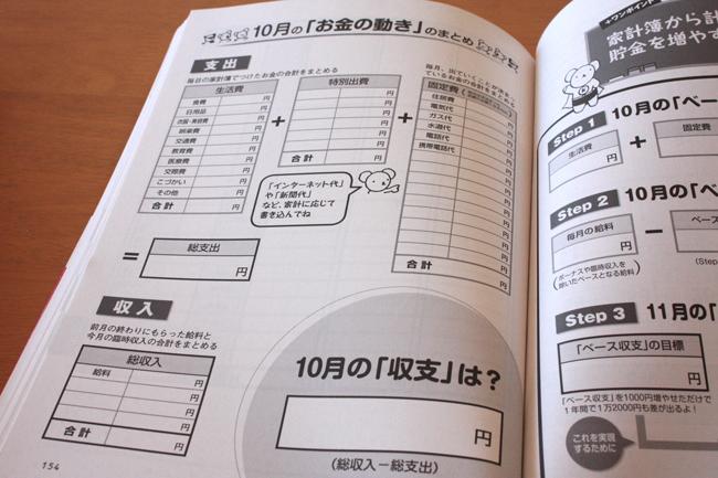 家計ノート 集計ページ