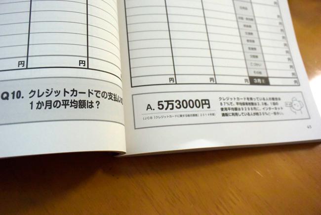 家計ノート ページ下部